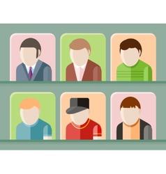 Man avatars characters vector image vector image