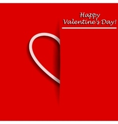 Valentines Day Greeting card with half of heart in vector image vector image