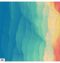 3d perspective grid background texture mosaic vector