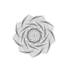 Abstract geometric shapesflower vector