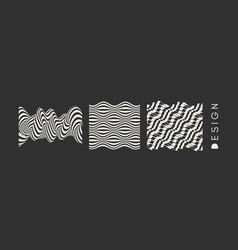 abstract wavy background pattern optical vector image