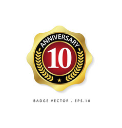 Anniversary 10 template design vector