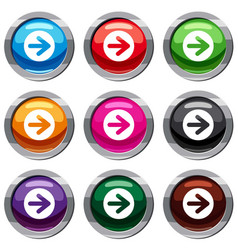 Arrow in circle set 9 collection vector