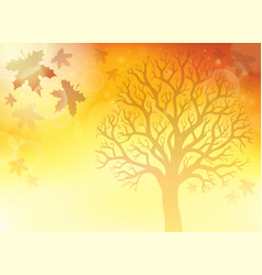 autumn theme background 5 vector image
