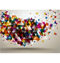 background with triangle pattern vector image