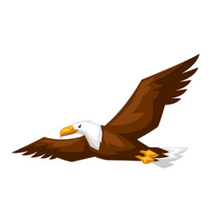 bald eagle cartoon vector image