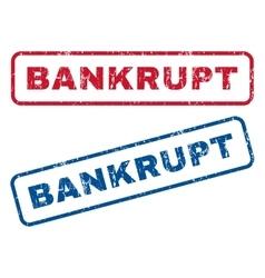 Bankrupt Rubber Stamps vector