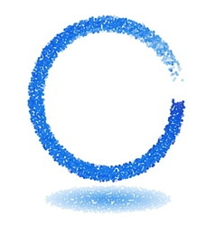 Blue dotted circle frame vector