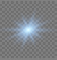blue glowing light vector image