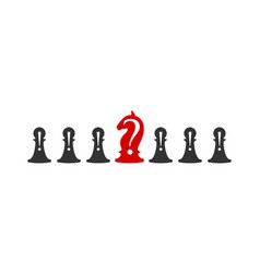 business conceptual with chess symbols pawns vector image
