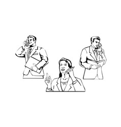 Business people on phone vector