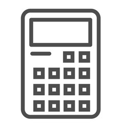 Calculator line icon accounting sign vector