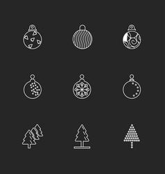 Christmas balls snowflakes tress christmas eps vector