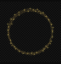 circle frame with magic light glow effect vector image
