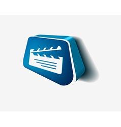 clapper boards icon vector image