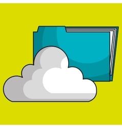 cloud data base center vector image