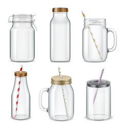 Cocktail glass cups set vector
