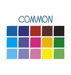 Common Color Tone without Code vector