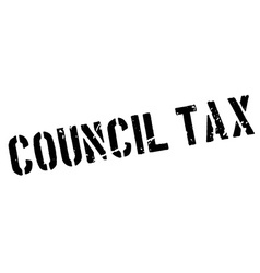 Council Tax rubber stamp vector