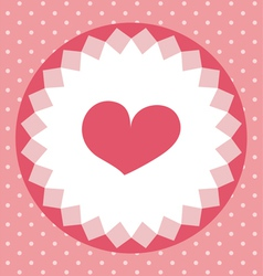 Cute heart card vector