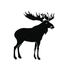 Deer icon simple style vector