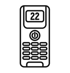 Digital climate remote control icon outline style vector