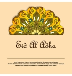 Eid Mubarak greeting card with mandala vector image