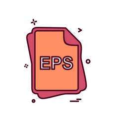 Eps file type icon design vector