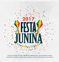 Festa junina celebration poster design vector