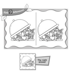 find 9 differences game tray vector image