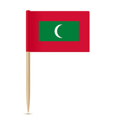Flag of maldives toothpick 10eps vector
