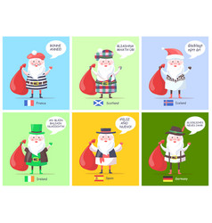 France scotland santa clauses vector