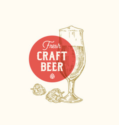 Fresh craft beer abstract sign symbol or vector