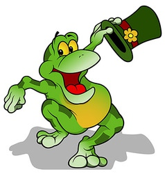Frog with Hat vector image
