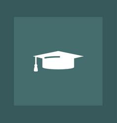 graduation cap icon education vector image
