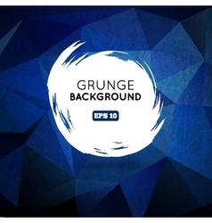 Grunge blue background with splash banner vector