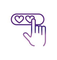 hands clicking hearts love charity help donation vector image