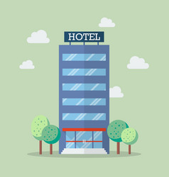 Hotel building in flat style vector