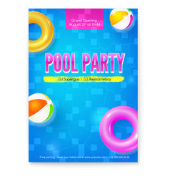 Invitation on summer party in swimming pool vector