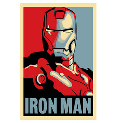 Ironman vintage poster vector