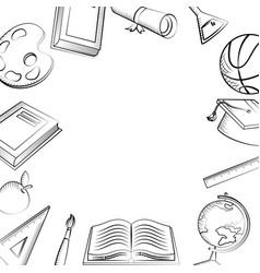 Isolated icon set school design vector