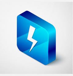 isometric lightning bolt icon isolated on white vector image