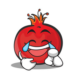 Joy face pomegranate cartoon character style vector
