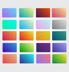 Kit of polygonal gradients for designers vector