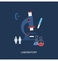 Laboratory microscope equipment vector image