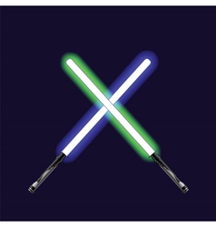 Light sabers vector