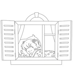 Little girl sleeping vector