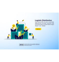 logistic distribution concept with icon and vector image
