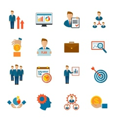 Management Icon Flat vector image