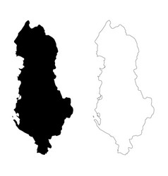 Map albania isolated black vector
